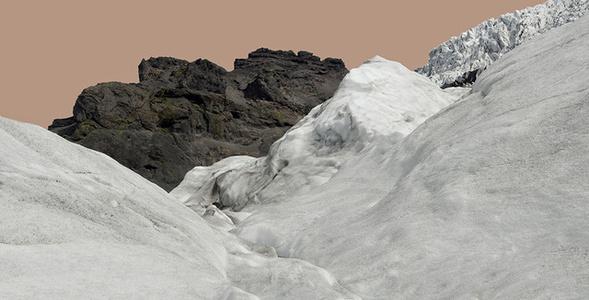 Glacier with Pink Sky / Svinafellsjokull