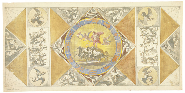 [Unexecuted ceiling design for the Stanza del Sole]