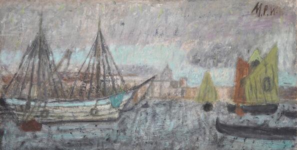 Schiffe vor der Dogana in Venedig