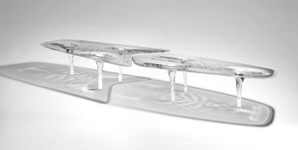 Dining Table 'Liquid Glacial'