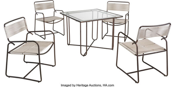 Square Table with Four Chairs