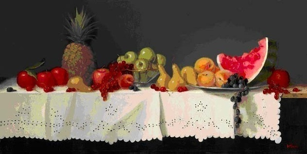 Fruitscape (the sale of these prints benefit the nonprofit Zenith Community Arts Foundation) (smaller print unframed is $900) (larger print unframed is $1,800)