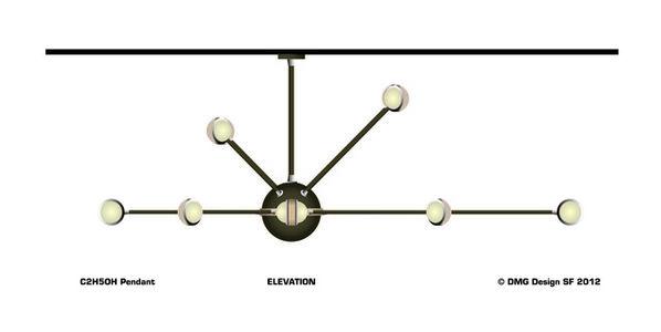 C2H5OH Pendant Light