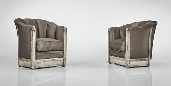Pair of Armchairs from the Bedroom of Madame Rateau, Paris