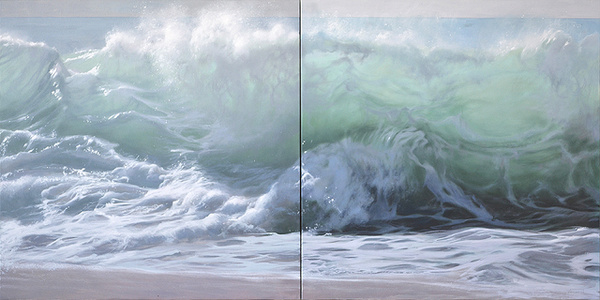 The foam of the waves, diptych