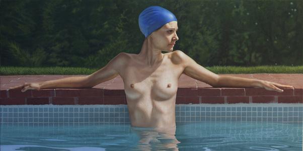 Sandra in the Pool