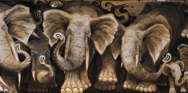 Elephantes grandes