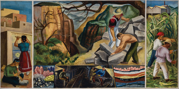 South American Labor, A Mural Study II
