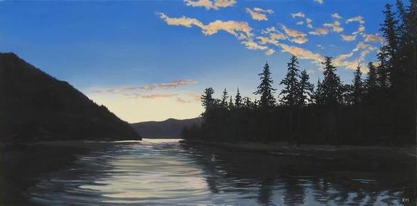 Sunrise Lake Crescent, Olympic National Park