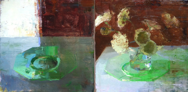 Diptych with Green Plate