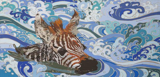 Zebra (Nadando)
