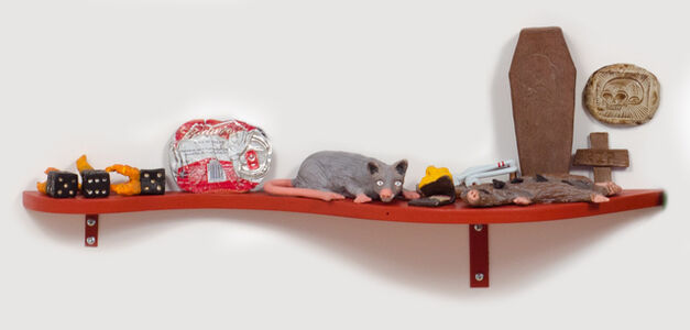 Slow Down Ruby (Rat Shelf with Flattened Coke Can)