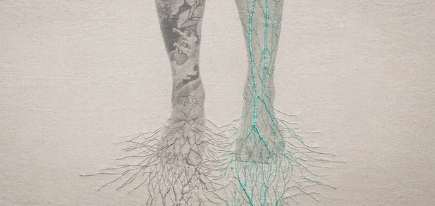 Embroidery Artwork Juana Gomez Anatomical Embroideries Constructal a 1