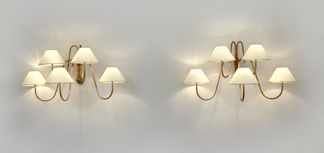 "Pair of ""Bouquet"" five arm wall lights"