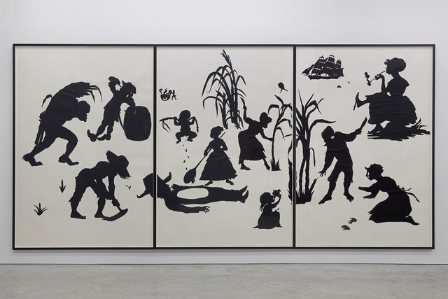 Kara walker, the end of uncle tom (grand allegorical tableau), 1995, cut paper and adhesive (detail)