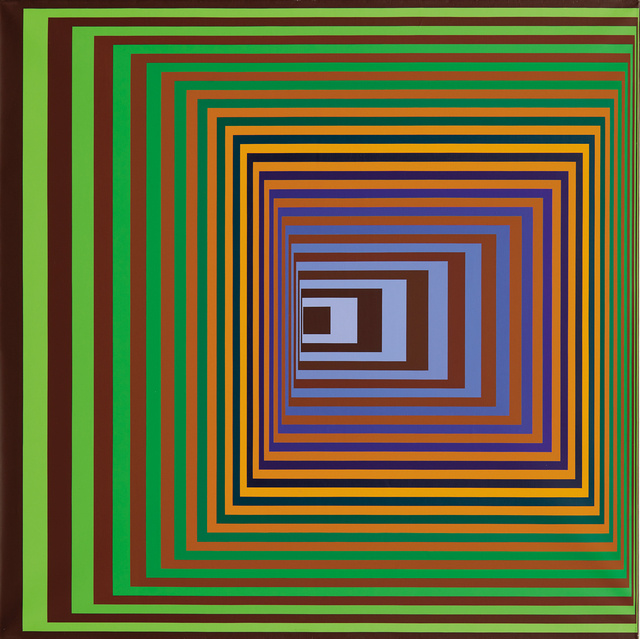 a biography of victor vasarely the father of op art