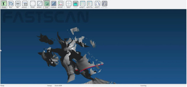 3D Scanning Screen Capture Performance