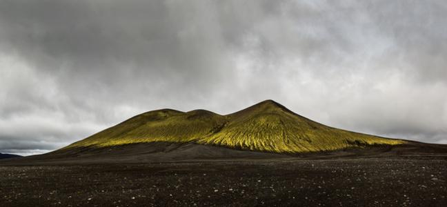 Montaña verde