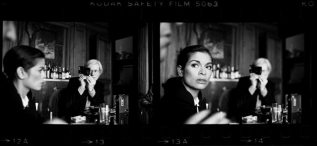 Andy Warhol and Bianca Jagger at The Factory, New York