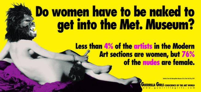 DO WOMEN STILL HAVE TO BE NAKED TO GET INTO THE MET. MUSEUM?
