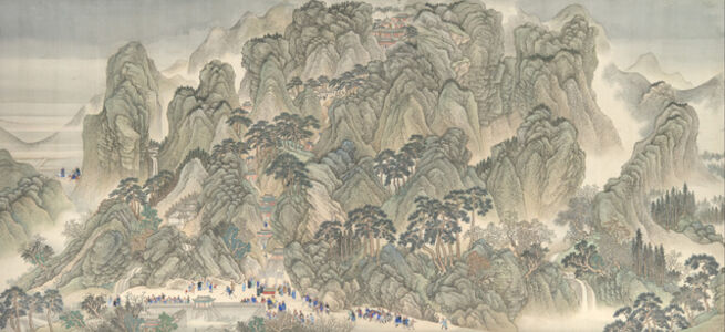 The Kangxi Emperor's Southern Inspection Tour, Scroll Three: Ji'nan to Mount Tai (清 王翬 等 康熙南巡圖 (卷三: 濟南至泰山) 卷)