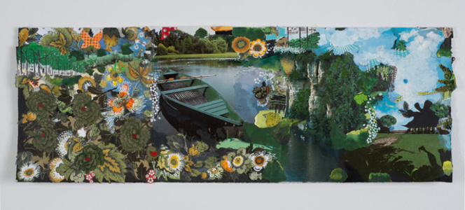 A Rowboat A Canoe