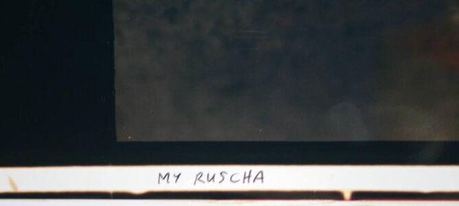 My Ruscha, Large Format Polaroid