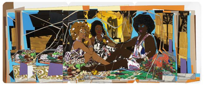 Le déjeuner sur l'herbe: Les Trois Femmes Noires