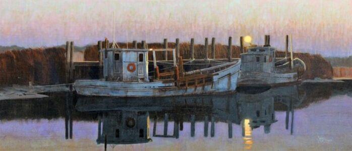 Moonset at Port Mahon
