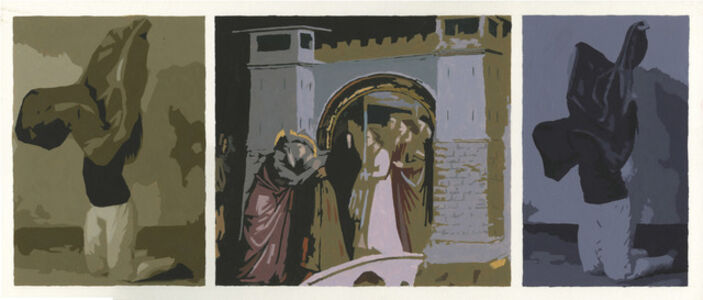 Two Figures in Brown and Violet with Giotto