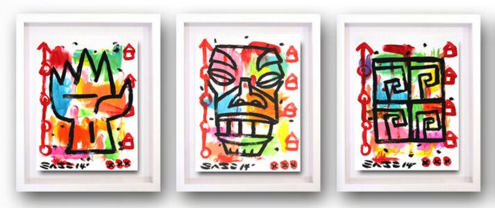 Tiki Triptych (framed)