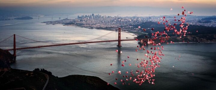 Balloons over San Francisco