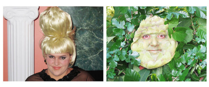 Self-Portrait as Ivana Trump / Self-Portrait as An Artichoke in Ivana's Hair Totally Looks Like An Artichoke by catlovre2008