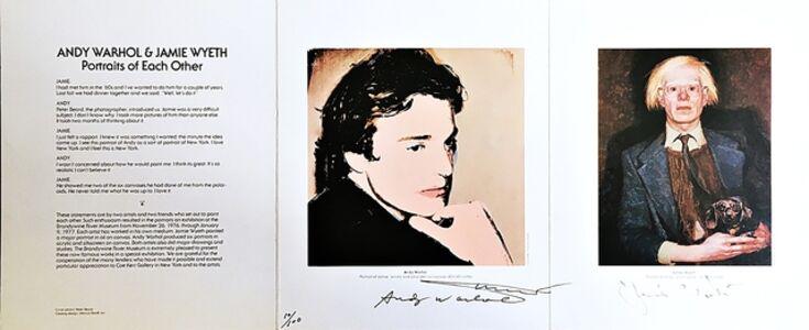 Andy Warhol & Jamie Wyeth: Portraits of Each Other (Signed by both Wyeth & Warhol)