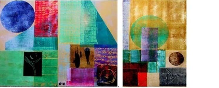 Moonlight Sonata -triptych (dimensions [unframed] and pricing based on complete series)