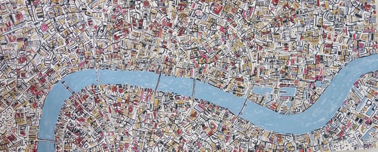 London Gold, Pink, Blue Grey