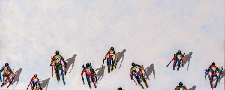 Skiers Teams with Shadows (#270)