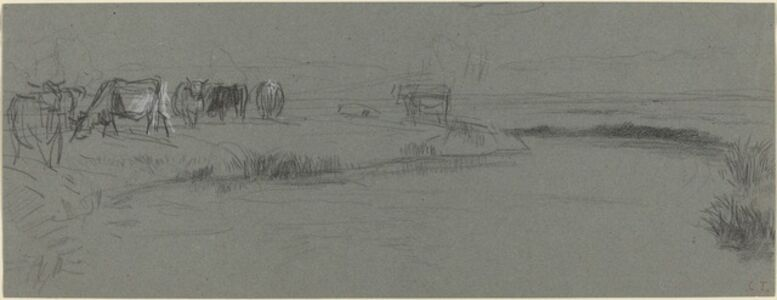 River Bank with Cattle