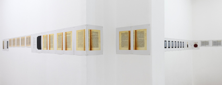 Psychologie bibliologique - exhibition by Vincent Romagny