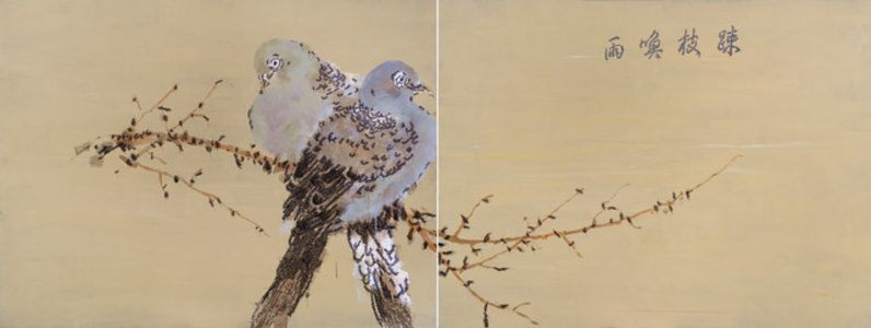 Conversation Amongst the Foliage (Diptych)