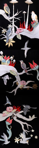 The Garden of Carnivorous Plants, 2015, mixta sobre papel, 110 x 35 cm.