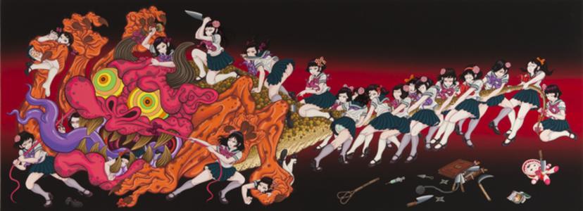 Monster and Twenty one girls