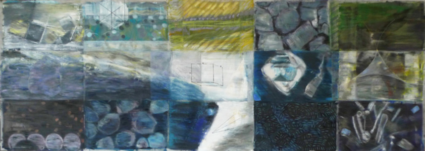 Sum of Parts (Triptych) Panel Two - 'Carbon'