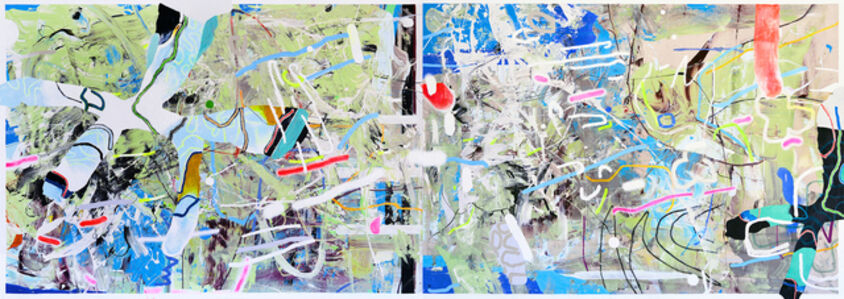 Waterfalls (diptych)