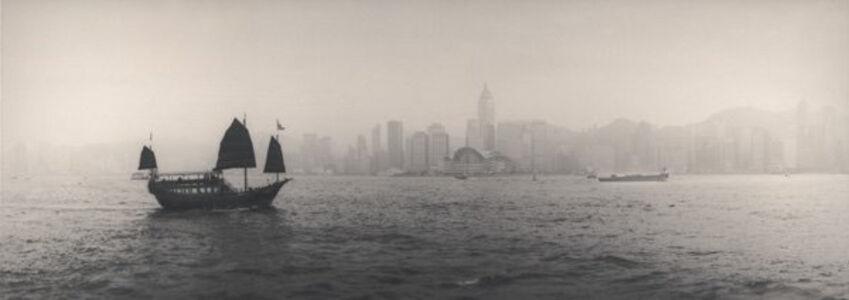 Junk crossing Victoria Harbour, Hongkong/China