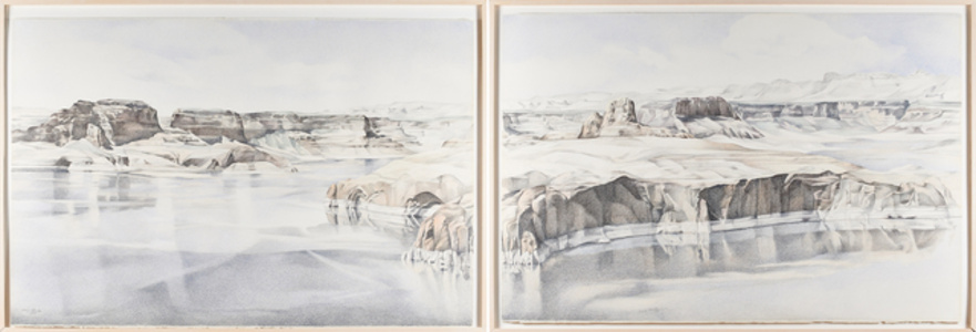 Lake Powell # 5 and # 6 (diptych)