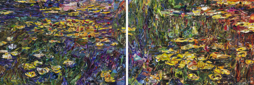 Nymphéas, after Claude Monet (diptych)