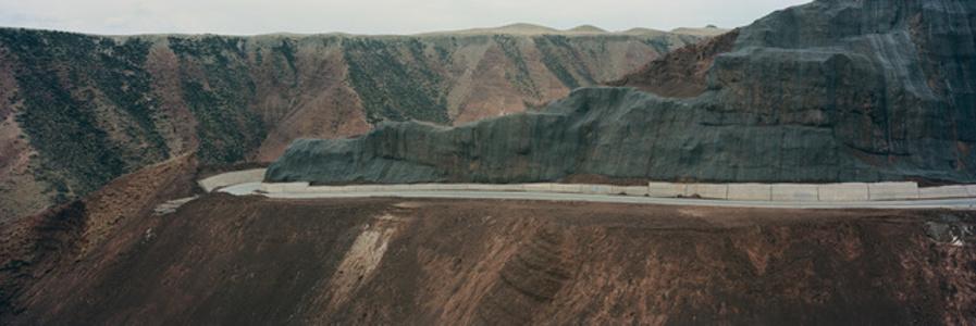 Road Construction. Sanjiangyuan National Nature Reserve, Golog Tibetan Autonomous Prefecture, Qinghai, China.