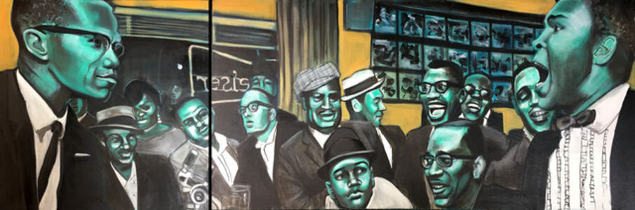 Malcolm and Ali (Diptych)