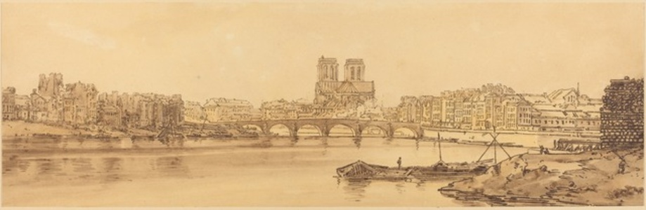 View of Pont de la Tournelle and Notre Dame Taken from the Arsnel: pl.11